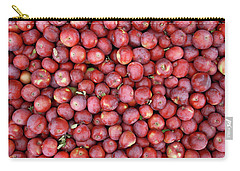 Red Apples Background Carry-all Pouch by GoodMood Art