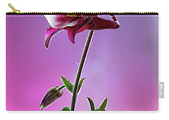 Red Aquilegia 2 Carry-all Pouch by Shirley Mitchell
