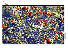 Carry-all Pouch featuring the photograph Red Army by Wayne Sherriff