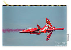 Carry-all Pouch featuring the photograph Red Arrows Crossover by Gary Eason