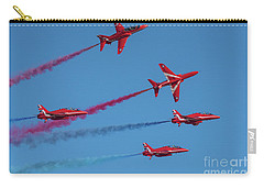 Carry-all Pouch featuring the photograph Red Arrows Enid Break by Gary Eason
