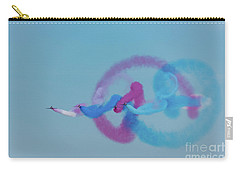 Carry-all Pouch featuring the photograph Red Arrows Gypo Swirls by Gary Eason