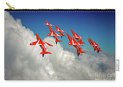Carry-all Pouch featuring the photograph Red Arrows Sky High by Gary Eason