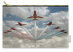 Carry-all Pouch featuring the photograph Red Arrows Smoke On  by Gary Eason