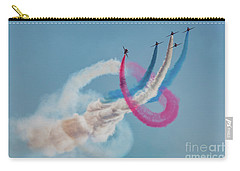 Carry-all Pouch featuring the photograph Red Arrows Twister by Gary Eason
