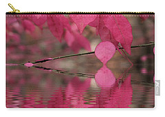 Red Autumn Leaf Reflections Carry-all Pouch by Judy Palkimas