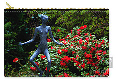 Carry-all Pouch featuring the photograph Red Azalea Lady by Susanne Van Hulst