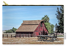 Red Barn And Wagon Carry-all Pouch