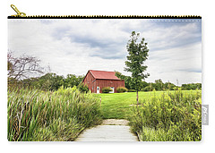 Red Barn At Dawes Arboretum Carry-all Pouch