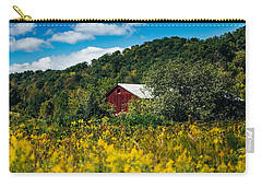 Carry-all Pouch featuring the photograph Red Barn In Early Autumn by Shane Holsclaw