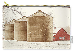 Red Barn In Snow Carry-all Pouch