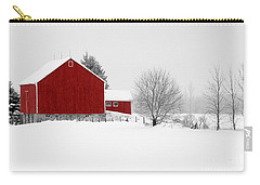 Red Barn Winter Landscape Carry-all Pouch