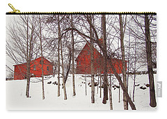 Red Barns Carry-all Pouch by Betsy Zimmerli