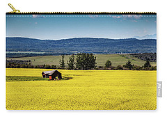 Red Barns In A Sea Of Canola Carry-all Pouch