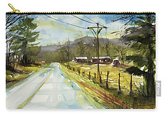 Red Barns On The Right Carry-all Pouch by Judith Levins