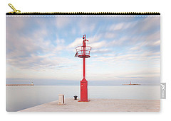 Carry-all Pouch featuring the photograph Red Beacon by Davor Zerjav