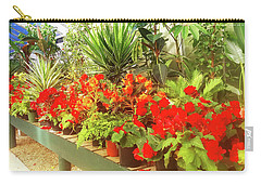 Red Begonias In The Glasshouse. Carry-all Pouch