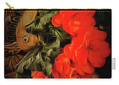 Carry-all Pouch featuring the photograph Red Begonias by Thom Zehrfeld
