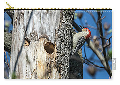 Red-bellied Woodpecker At His Home Carry-all Pouch