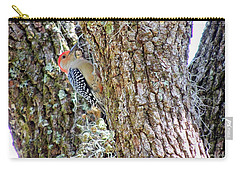 Carry-all Pouch featuring the photograph Red-bellied Woodpecker By Bill Holkham by Bill Holkham