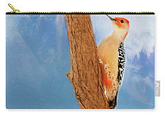 Carry-all Pouch featuring the digital art Red Bellied Woodpecker by Darren Fisher