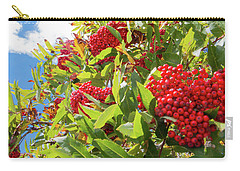 Red Berries, Blue Skies Carry-all Pouch