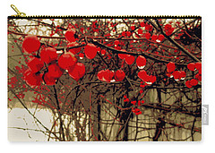 Red Berries In Winter Carry-all Pouch by Susan Lafleur