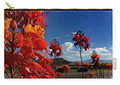 Carry-all Pouch featuring the photograph Red Bird Of Paradise by Chris Tarpening
