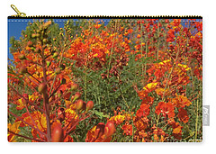 Carry-all Pouch featuring the photograph Red Bird Of Paradise Garden by Chris Tarpening