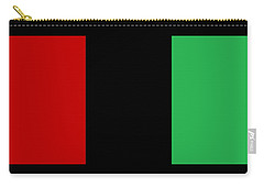 Red Black And Green Carry-all Pouch