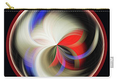 Carry-all Pouch featuring the photograph Red Black Orb by Judy Wolinsky