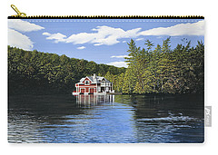 Red Boathouse Carry-all Pouch by Kenneth M  Kirsch