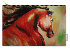 Red Breed Carry-all Pouch by Khalid Saeed