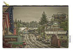 Red Bridge Haze Carry-all Pouch by Timothy Latta