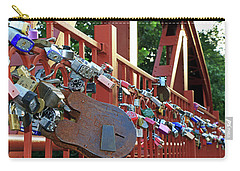 Carry-all Pouch featuring the photograph Red Bridge Locks by Christopher McKenzie