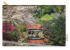 Red Bridge Spring Reflection Carry-all Pouch by James Eddy