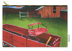 Red Buckboard Wagon Carry-all Pouch