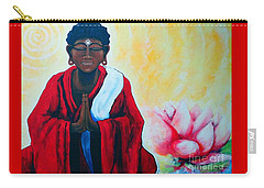 Red Buddha Lotus Carry-all Pouch by Jackie Carpenter