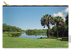 Carry-all Pouch featuring the photograph Red Bug Slough by Gary Wonning