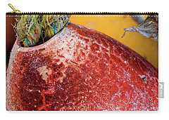 Carry-all Pouch featuring the photograph Red Buoy Closeup by Carol Leigh