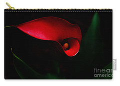 Carry-all Pouch featuring the painting Red Calla Lilly by Debra Crank