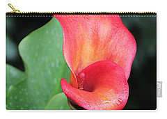 Carry-all Pouch featuring the photograph Red Calla Lily by Katie Wing Vigil