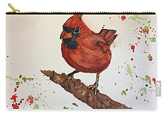 Red Cardinal Carry-all Pouch by Lucia Grilletto