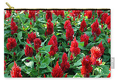 Carry-all Pouch featuring the photograph Red Celosia Garden by Glenn McCarthy Art and Photography