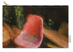 Carry-all Pouch featuring the photograph Red Chair by Tom Singleton