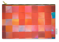 Carry-all Pouch featuring the mixed media Red Check by Jan Bickerton
