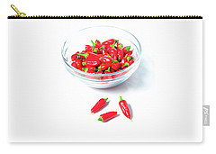 Red Chillies In A Bowl II Carry-all Pouch