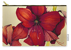 Red Christmas Amaryllis Carry-all Pouch