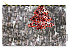 Carry-all Pouch featuring the photograph Red Christmas Tree by Ulrich Schade