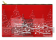 Carry-all Pouch featuring the digital art Red Christmas Trees by Aimelle